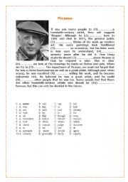 English Worksheet: Picasso