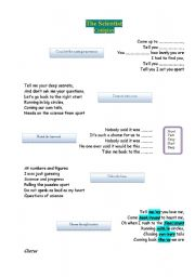English worksheet: Coldplay - The Scientist