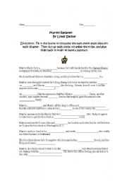 English Worksheets: Marvin Redpost