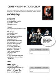 English Worksheet: Song �Cell Block Tango� (Chicago): listening, crime vocab and writing