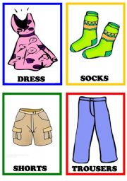 Vocabulary worksheets > Clothes > Clothes flashcards