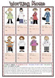 English Worksheet: Working Moms (2/2)