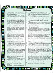 English Worksheets: Comprehension passage with Bloom�s Taxonomy Questions
