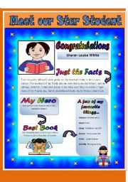 English Worksheets: MEET OUR STAR STUDENT - READING COMPREHENSION