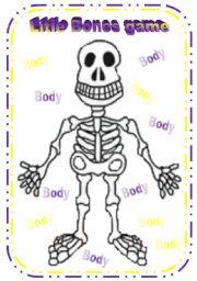English Worksheet: Little Bones Game