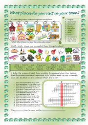 English Worksheet: PLACES IN YOUR TOWN - part 1