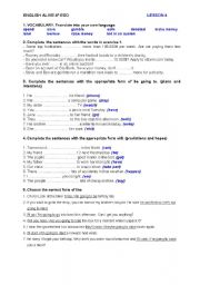English Worksheet: ENGLISH ALIVE 4º ESO - PRACTICE TEST - UNIT 4