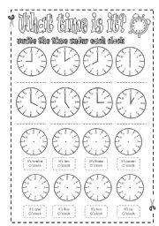 time telling practice sheets esl worksheet by lolelozano. Black Bedroom Furniture Sets. Home Design Ideas