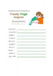English Worksheets: Anagram Activity