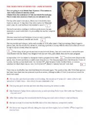 English Worksheets: THE THIRD WIFE OF HENRY VIII