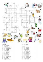 English Worksheet: PARTITIVE CROSSWORD