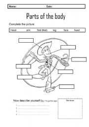 English Worksheets: Parts pf the body