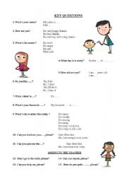 English Worksheets: KEY QUESTIONS (STUDY HANDOUT)