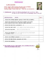 English Worksheets: Phonology