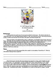 English Worksheets: Lance Armstrong