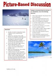 English Worksheet: Picture-based Discussions: Weather and Climate