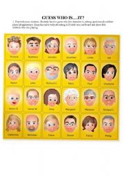 English worksheet: Guess who is...it?