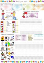 English Worksheet: Have you ever...