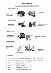 English Worksheets: How - Questions ?