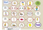 English Worksheet: game parts of body
