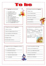 Worksheet on the verb to be