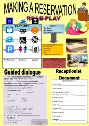 English Worksheet: MAKING A RESERVATION- TOURISM (ROLE- PLAY)