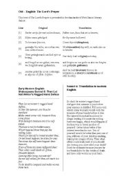 English Worksheets: Old English - Early Modern English Comparison