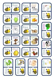 English Worksheets: DOMINO: pets and farm animals 1/2