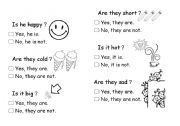 English Worksheets: Is he happy�H