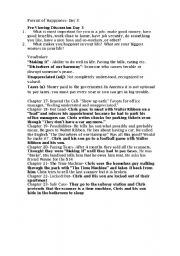 English Worksheet: Pursuit of Happyness Day 3