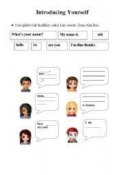 English Worksheets: introducing bubbles