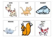 English worksheet: animal flashcards