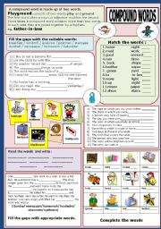 English Worksheet: COMPOUND WORDS