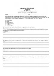 english teaching worksheets lord of the flies. Black Bedroom Furniture Sets. Home Design Ideas
