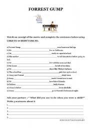 Forrest Gump Esl Worksheets - Worksheets