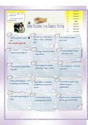 English Worksheet:  Common Mistakes in my students� writing