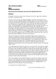 English Worksheets: revision comprehension
