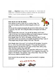 English Worksheets: Reading comprehension- Goha