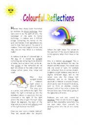 English Worksheet: Rainbows