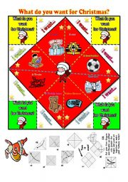 English Worksheet: Christmas and Toys Fortune Teller-+ B&W version (UPDATED)+ fully editable.