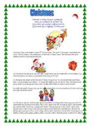 English worksheet: Christmas is coming