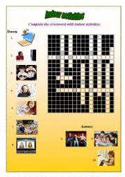 English Worksheets: Indoor activities