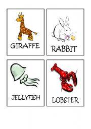 English Worksheets: Animals flash-cards part 3