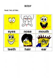 English Worksheets: body part 1 of 3
