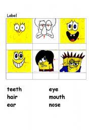 English Worksheets: body part 3