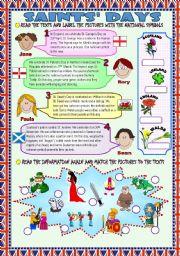 English Worksheets: PATRON SAINTS´ DAYS