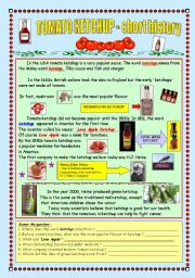English Worksheets: Tomato ketchup - the short history (fully editable & key)
