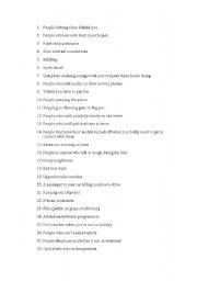 English Worksheets: annoyong things