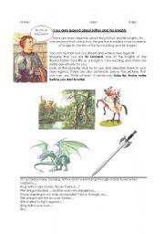 English Worksheet: Creative Writing King Arthur