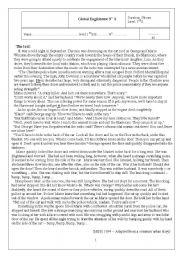 English Worksheets: Test for 1 secondary education